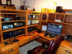 35 best ham radio shack images radios desk desk office rh pinterest com