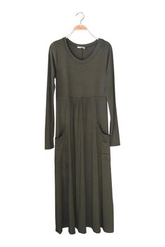 Amaya Midi Dress in Olive | ROOLEE