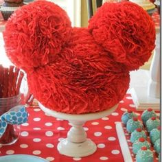Birthday Centerpieces - Maybe in black with some mickey and some minnie (with a bow)? Mickey Mouse Wedding, Mickey Mouse Bday, Mickey Mouse Clubhouse Birthday, Mickey Mouse Parties, Mickey Party, Mickey Mouse Birthday, Disney Parties, Elmo Party, Elmo Birthday