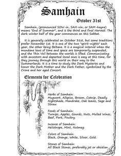 Samhain - Note: Samhain is often actually celebrated on November and some Pagans consider it and Halloween to be one two-part celebration. Samhain Traditions, Halloween Traditions, Samhain Halloween, Wicca Witchcraft, Wiccan Sabbats, Magick Spells, Eclectic Witch, Beltane, Book Of Shadows