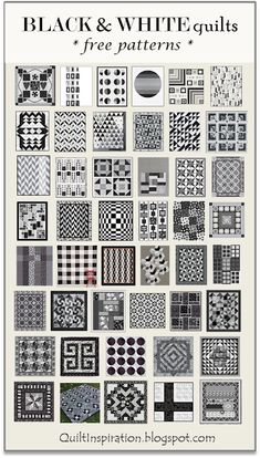 Here are 50 free patterns for Black and White quilts | Quilt Inspiration