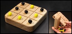 How to make this classic Tic-Tac-Toe game project. It even features hidden storage for the marbles.