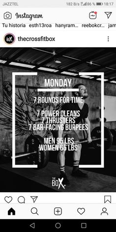 Crossfit Barbell, Crossfit Workouts At Home, Crossfit Leg Workout, Rowing Workout, Amrap Workout, Conditioning Workouts, I Work Out, Physical Fitness, Workout Programs