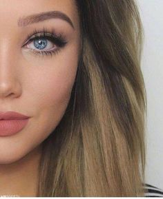The perfect makeup and eyebrows