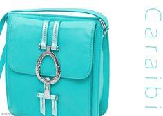 Caraibi MAYA bag with silver accessory by Roberto Mantellassi
