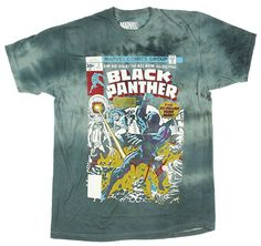 Marvel Black Panther Comic Cover Deluxe 1 Mens T-Shirt