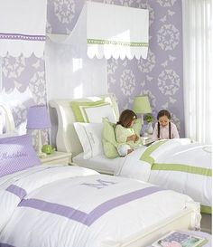 Lilac and green - so soft and pretty daughters room