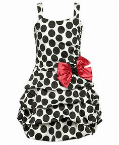 Ruby Rox Girls Dress, Girls Polka Dot Pickup Dress with Bow is a great look to just dress up for you if you're the type girl I am you would love to bye that dress to an event to look fabulist and show off.