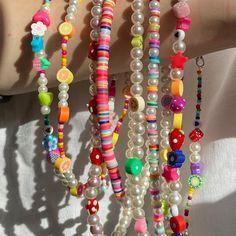 Funky Jewelry, Cute Jewelry, Diy Jewelry, Jewelery, Jewelry Accessories, Jewelry Making, Summer Necklace, Summer Jewelry, Diy Necklace