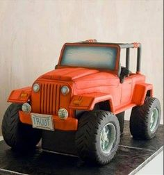 Awesome Jeep cake!