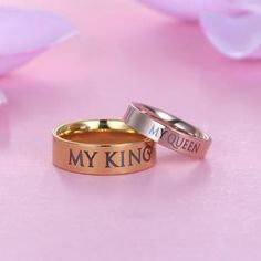 $6.95 FREE SHIPPING! These are made from high quality tungsten and include the Kings and Queen engraved on the outside of the ring.