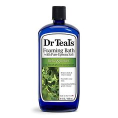 Amazon has the Dr Teal's Foaming Bath (Epsom Salt), Eucalyptus Spearmint, 34 Fluid Ounce marked down from $5.99 to $4.87. Clip the coupon and check out using Subscribe & Save to get this for only $3.67 with free shipping. Relax and relief Relaxes your body and relieves your mind Nourishes your skin and your senses… Epsom Salt Bath, Calming Essential Oils, Best Stress Relief, Skin Brushing, Body Treatments, Bath Salts, Natural Oils, Bath And Body Works, How To Relieve Stress