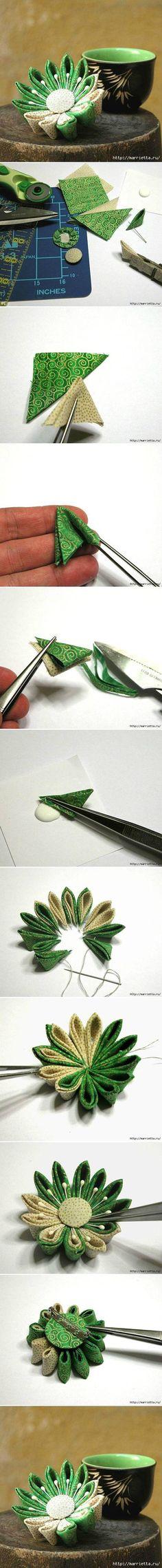 DIY Japanese Kanzashi Flower | FabDIY
