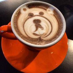 celebrating Children in Need with Pudsey Bear Hot Chocolate. Hot Chocolate Art, Children In Need, Latte, Bear, Food, Eten, Bears, Meals, Latte Macchiato
