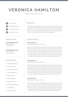 References Sheet Template Awesome Resume Template  Cv  Design Inspiration  Pinterest  Template And .