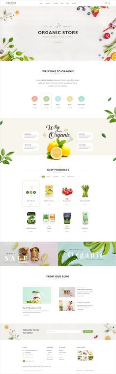 Organie is delightful 7 in 1 #PSD #template for multipurpose organic store #eCommerce website Download now➩ https://themeforest.net/item/organie-a-delightful-organic-store-psd-template/18384312?ref=Datasata