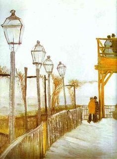 Montmartre. Paris. Autumn 1886.Vincent Van Gogh