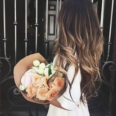 ☆☼ pin: @dsmrkv ˙˙· . ૐ hair. ombre. long. brown. long. fall. 2016 . balayage. blonde. bronde. flowers. beauty.