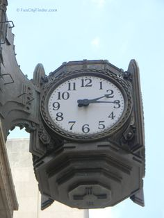 Famous clock at the L.S. Ayres building in downtown Indianapolis, Indiana