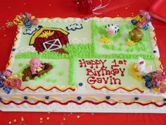 old macdonald had a farm party ideas | Cookies Own Farm Cake Ideas and Designs