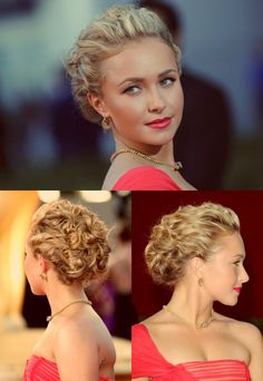 Hayden Panettiere Wedding Party Hair, Short Wedding Hair, Wedding Hair And Makeup, Hair Makeup, Curly Hair Up, Short Hair Updo, Cool Braid Hairstyles, Bride Hairstyles, Front Hair Styles