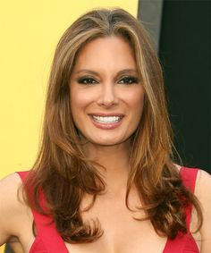 Alex Meneses Long Straight Caramel Brunette Hairstyle - New Site Casual Hairstyles, Straight Hairstyles, Latest Hairstyles, Medium Hair Styles, Natural Hair Styles, Long Hair Styles, Alex Meneses, Oblong Face Hairstyles, Oblong Face Shape