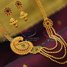 gold-design-temple-multi-strand-necklace-kempu-spinel-ruby-traditional-jewelry-set-online-offer