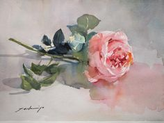 Japanese watercolorist Tsukiyo Ono creates wonderful paintings of flowers using an amazing bright palette. With the help of her art she make an attempt to make the surrounding world more positive a… Watercolor Landscape, Watercolor And Ink, Watercolour Painting, Diy Painting, Watercolor Flowers, Watercolors, Art Floral, Gravure Photo, Botanical Art