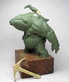 - by Aradia Miniatures Modelos 3d, 3d Fantasy, Art Sculpture, Monster Design, Inspiration Art, Creature Concept, Creature Design, Fantasy Creatures, Cool Art