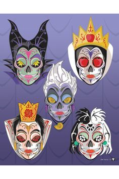 Disney villains Sugar Skulls