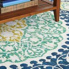 Medallion-theme area rug. love it!