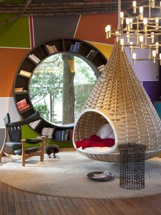 Treehouse Kids Furniture--love this window! I'd love this whole space indoors as well!