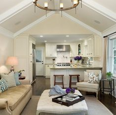 Importance Of Open Concept Kitchen Living Room Small House Interior Design 71 Open Kitchen And Living Room, Small Living Rooms, Living Spaces, House Plan With Loft, House Plans, Home Design, Garage Apartment Interior, Garage Apartments, Barn Apartment