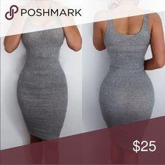 ❗️SALE❗️🆕Grey Mini Bodycon mini dress. Nice stretch. Juniors xl. NO TRADES Boutique Dresses Mini