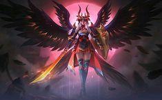 Mobile Legend Wallpaper, Hero Wallpaper, Bang Bang, Miya Mobile Legends, Dark Rose, Dragon Hunters, Freya, Moba Legends, Mythical Dragons
