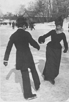 Ice skating party: 1900.