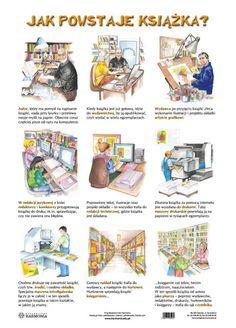 Znalezione obrazy dla zapytania jak powstaje książka Early Education, Kids Education, Aa School, Polish Language, English Class, Speech Therapy, Book Design, Kids Learning, Montessori