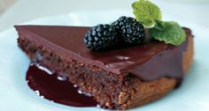 Dark Chocolate Torte with Spiked Blackberry Coulis More