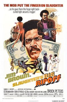 """Slaughter's Big Rip-off is a 1973 Blaxploitation film which was released during the 1970s Blaxploitation film era. It is directed by Gordon Douglas. From its famous tagline """"The mob put the finger on Slaughter …so he gave them the finger right back curled around a tight trigger"""" the sequel is a crime/drama/action film protagonized by football legend Jim Brown."""