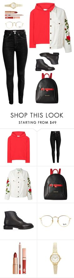 """Unbenannt #1720"" by uniqueautumn ❤ liked on Polyvore featuring Balenciaga, Off-White, Love Moschino, Burberry, Ray-Ban and Topshop"