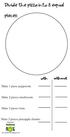fraction pizza - Google Search