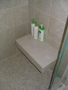 Bon Marble Shower With Custom Marble Floating Seat