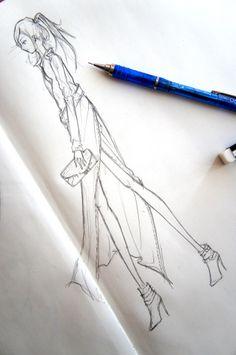 Quick fashion sketching!  http://alicedesigned.wordpress.com/