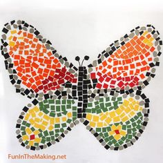 Paper mosaic using recycled paper or cereal boxes - good fun for kids - www.homeology.co.za