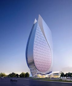 Azersu Office Tower, Baku, Azerbaijan designed by Heerim Architects and Planners… - Architectur Dubai Architecture, Beautiful Architecture, Modern Architecture, Amazing Buildings, Modern Buildings, Baku Azerbaijan, Construction Companies, Construction Worker, Kitchen Dining