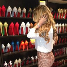"""Decisions decisions... I wish I had a choice selection like this! mine is... """"flips flops? barefoot? or sneakers..??"""" lol"""