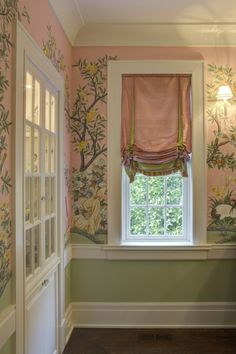 Wonderful Window Treatment, All is Harmonious with the Fabulous Walls.
