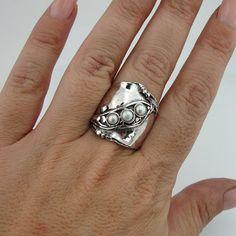Hadar gioielli Handcraffted argento anello perla di hadarjewelry