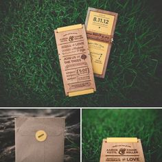 wooden wedding invitations. made by chase and aaron kettl. find them on etsy.com/inkwise /love everything about this wedding!!