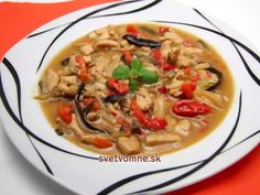 Chili Sauce, Japchae, Thai Red Curry, Ethnic Recipes, Browning, Meat, Cooking, Food Food